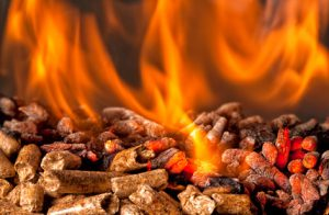 Brennende Pellets in der Heizung