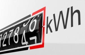 Stromzähler zählt Kilowattstunden